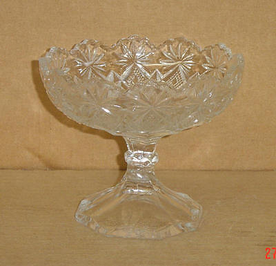 EAPG CRYSTAL SHOSHONE BLAZING PINWHEELS JELLY COMPORT US GLASS 1896