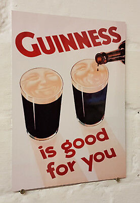 Guinness bar sign Retro metal Aluminium  vintage beer pub man cave beer signs