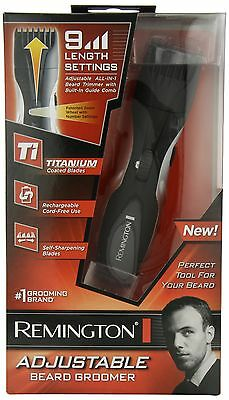Remington MB-200 Titanium Mustache and Beard Trimmer, Free Shipping, New