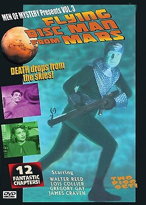 FLYING DISC MAN FROM MARS - Cliffhanger serial  2 disc DVD- WALTER REED