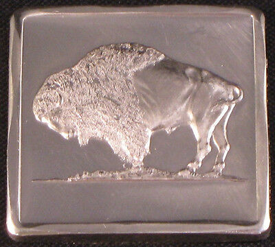 1971 Plains Buffalo On Mound ( 1/4 ) One Quarter Ounce Madison Mint Silver Bar