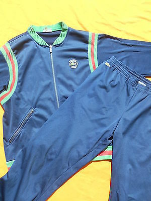 LACOSTE Survêtement Tracksuit Jacket Pants Vintage 80s Devanlay Made in France