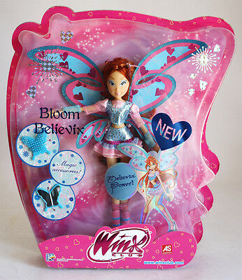 VERY RARE 2009 WINX CLUB BLOOM BELIEVIX POWER DOLL RAINBOW BRAND NEW MISB !