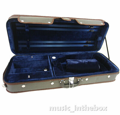 Pro. Beautiful Interior Wooden Double( 4/4 Violin & Viola) Case - Adjustable