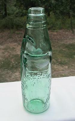 Antique Codd Bottle Marble GREEN GLASS TAYLOR & REDFEARN UPPER MILL 547