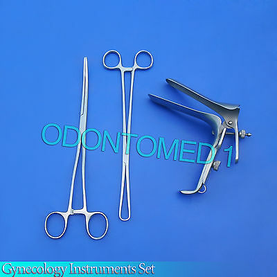 Exam Set w/Open Side Graves Speculum Small Gynecology instruments
