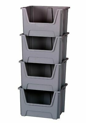Open Front Picking Boxes - Plastic Storage Totes - Large Stacking Nesting Bins