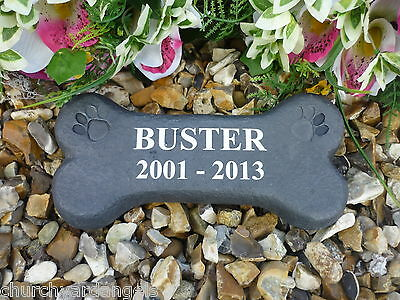 Personalised Dog Bone Pet Memorial.  Weatherproof.  Perfect in your garden.