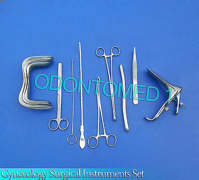 Gynecology Surgical Instruments Kit Forceps , Sims+Graves Speculum Large