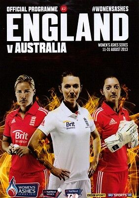 * ENGLAND v AUSTRALIA WOMENS ASHES CRICKET PROGRAMME (AUGUST 2013) *