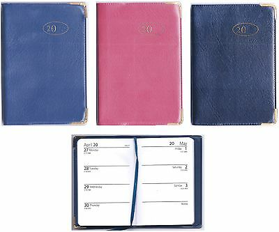 2015 PVC Leather Look Week to View WTV Pocket Diary Diaries Planner Gift Xmas