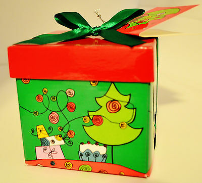 CHRISTMAS HOLIDAY GIFT BOX (EXTRA SMALL) JEWELRY BOX