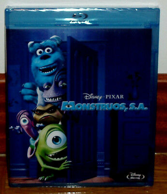 Monsters,Inc.monstruos,S.a.disney-Pixar Blu-Ray Precintado Nuevo (Sin Abrir) R2