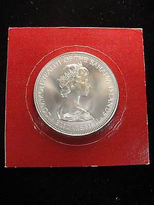 1973 Bahamas Sterling Silver Five Dollar Coin Uncirculated Specimen!
