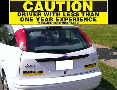 Student Driver Magnets 3M REFLECTIVE New Driver Signs CAUTION