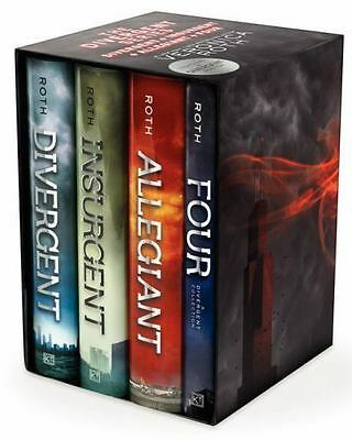NEW Divergent, Insurgent, Allegiant, Four Box Set Veronica Roth YA Fiction
