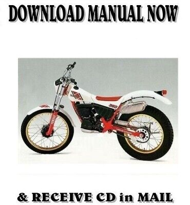 1984 1985 yamaha ty350 trials factory owner service repair manuals
