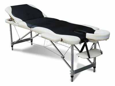 3 Section Lightweight Portable Folding Massage Table Luxury Beauty Couch Bed BW
