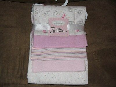 Rene Rofe Set of 5 Flannel Receiving Blankets