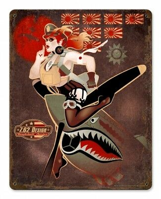 """Flying Tiger Sexy Military Series heavy metal sign  11x15"""""""