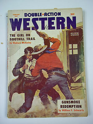 Double Action Western February 1957 Gd Pulp Western Magazine