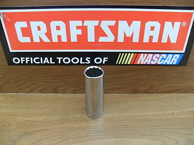 "New Craftsman 3/8"" Deep Socket 12 Pt Point Sae Or Metric Tools Choose Size"