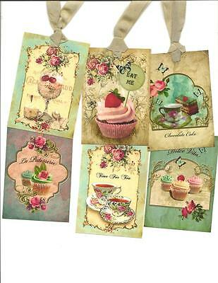 ~La Patisserie~ Hang Tags Set of 12 Vintage inspired Gift Tags