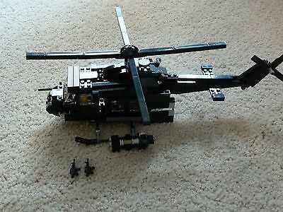 Custom Lego Military Huey Helicopter Instructions Only 1650