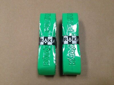 2 x Karakal Super PU Grip Badminton Squash Tennis Racket Grips - GREEN