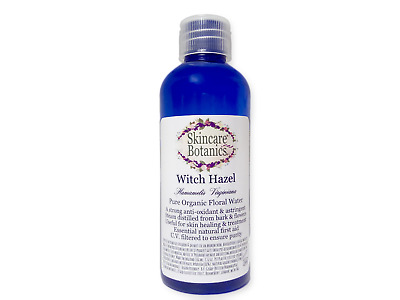 Organic & Natural Pure Witch Hazel Hydrosol -Steam Distilled from Bark & Flowers