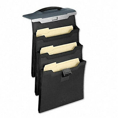 Fellowes Partition Additions 7500901 Portable Triple Pocket (Slate Gray) A4