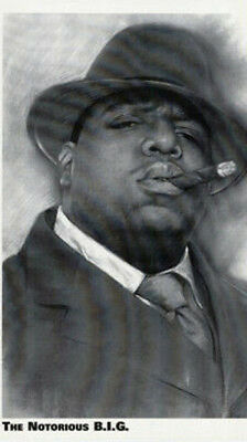 Notorious B.I.G (Smoking Cigar) - Biggie - Music Poster #294