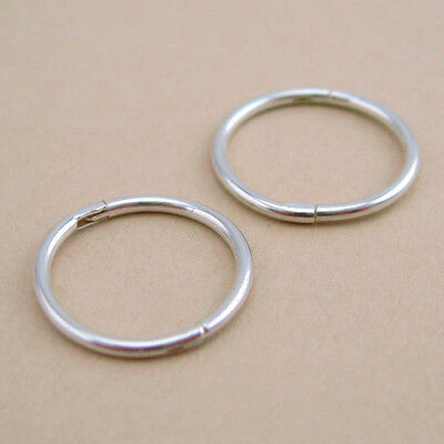 925 Solid Sterling Silver Sleepers 12/14mm Aust Made