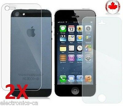 2x Front and Back Full Body Crystal Clear Screen Protector iPhone 5 & 5S SP-i5