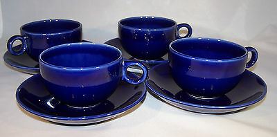 Pagnossin Treviso Ironstone Cup & Saucer, Made in Italy, SET of Four, Blueberry