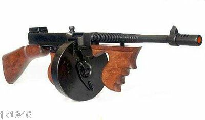 Replica Thompson Submachine Gun Chicago Typewriter Gangster Al Capone Prop Gun