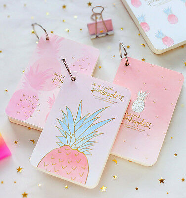 pineapple girl 1pc mini diary notebook cute pocket journal memo