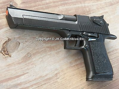 Replica Black Finish Desert Eagle Pistol Movie Prop Gun