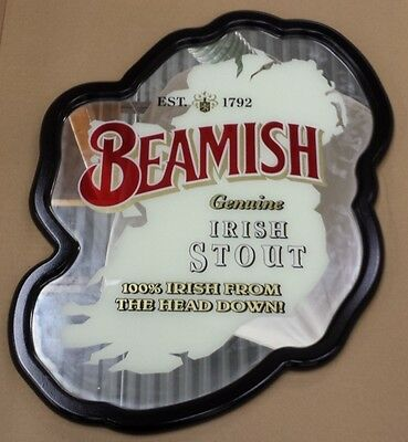 RARE!!!! Beamish Irish Stout Ireland Bar Mirror