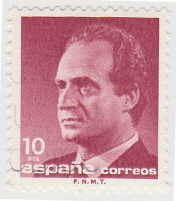 (SPA106) 1985 Spain 10p maroon fine used ow2818A