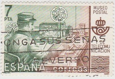 (SPA77) 1981 Spain set2 7p &50p postal museum ow2263