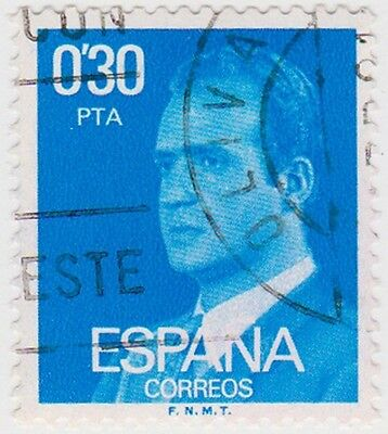 (SPB179) 1976 SPAIN 30p blue king Carlos ow2391