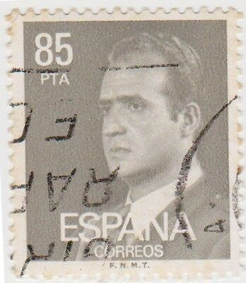 (SPB202) 1976 SPAIN 85p grey King Carlos ow2409c