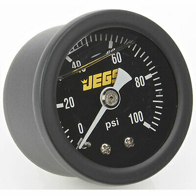 JEGS Performance Products 41513 Fuel Pressure Gauge 0-100 psi Black Dial