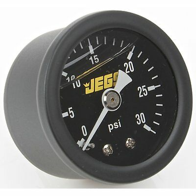 JEGS Performance Products 41511 Fuel Pressure Gauge 0-30 psi Black Dial