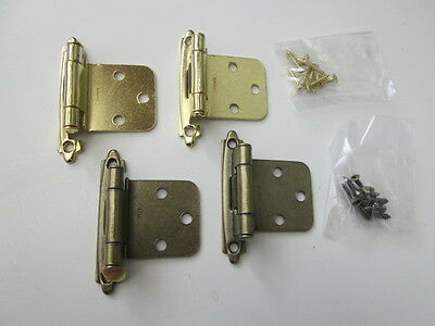 Self Closing Cabinet Cupboard Hinge Brass Auto Stay  Close Flush Mount Hinges