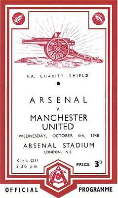 * 1948 CHARITY SHIELD - ARSENAL v MAN UTD *