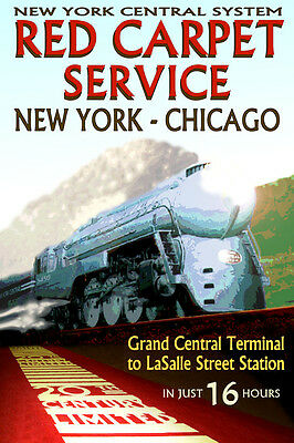HARMON New York Central Railroad 20th CENTURY Ltd Train Poster Art Print 221
