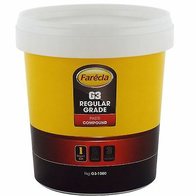 Farecla G3 Rubbing Compound Regular Cutting Paste 1kg Tub Car Polishing