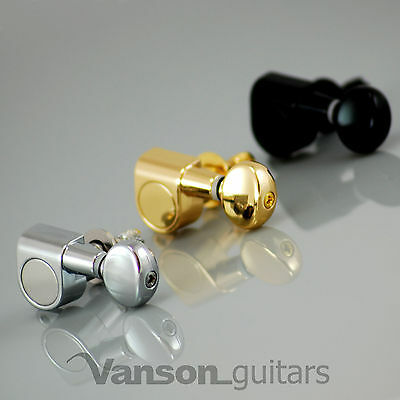 6 x New VANSON Vintage Locking Tuners, Machine heads, for Strat®*, Tele®* V05-LK
